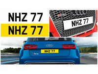 NHZ 77 Dateless Personalised Number Plate Audi BMW Volvo Ford Evo Subar