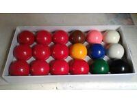 Snooker balls, chalks & cue rest