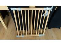 Extending wood stair gate