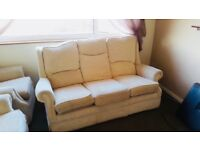 3 Piece Sofa Set, 2 Arm Chairs & 3 Seater.... only 2 years old