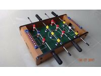 Deluxe Table football Game with accessories. Size: 50 x 30 cms