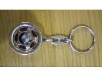 Genuine BMW Heavyweight Wheel Keyring