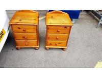 X2 matching Solid pine bedside cabinets