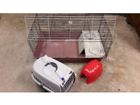 Guinea Pig / Hamster Cage + accessories