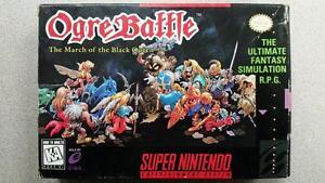Ogre Battle SNES Game CIB