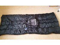 Black single sleeping bag