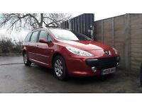 2006 Peugeot 307 1.6 Diesel, 7 Seater Very Low Miles 57293 New Mot Excellent Condition £1150