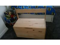Large Wooden Storage Bench