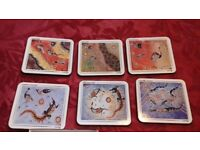 New Genuine Aboriginal Artwork Table Coasters Set
