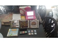 Nintendo 3ds xl pink in box with games