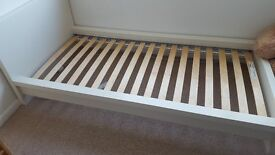 Single Bed Frame (Ikea Malm) in White (includes mattress if wanted)