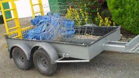 Purpose built plant/minidigger trailer. 4 wheel, 2 ton superb condition