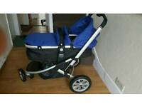Mothecare Baby Pram with a carrycot and a car seat