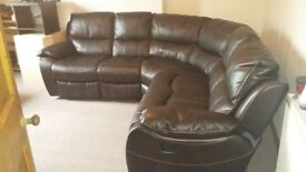 Leather Reclining Corner Sofa for sale