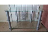 Glass TV stand corner unit, Very Good condition
