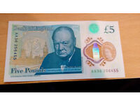 AA36 Bank of England New 5£ note