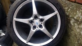 17 inch stylish racing Alloys with good tyres 5 stud 5 × 100
