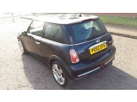 MINI COOPER 1.6, 2005 55, BLACK,68000 MILES, MOT DEC 2017