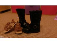 Girls boots and sandals size 8