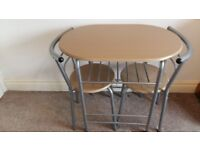 Small dining table and 2 chairs