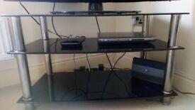 TV Unit with 2 Shelves
