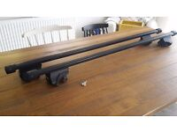 Thule Roof Bars Foot Pack 757, SquareBars 761 (120 cm) for Peugot 307SW 2006 and others