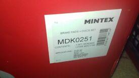 Mk5 Golf GTI brake kit front 312mm Mintex rotors and pads Seaford