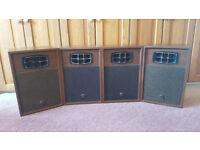 Vintage / Retro 3 Way, Sanyo SX-150 x 4 Speakers, HiFi, Excellent Condition