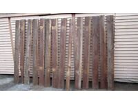 """14x thick feather edge timber lengths 6"""" plus some free spare lengths bromley br2"""