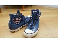 Converse Superman size 10 mens high top shoes