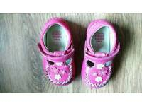Clarks Pink Girl Shoes 3E