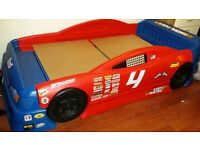 NASCAR CAR BED, FULL SIZE SINGLE BED CHILD'S THEME BED, CAR, VEHICLE