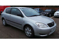 2004 04 TOYOTA COROLLA 1.4 T2 VVTI 91K (PART EX WELCOME)