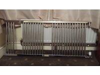 Chrome Bathroom Radiator 600 x 1400