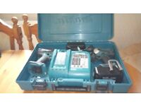 Used Makita 18 v cordless twin set, DRILL/IMPACT DRIVER etc. GWO. See photos & details