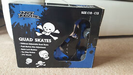 NO FEAR Childrens Adjustable Quad skates size C10-C13 in really good condition