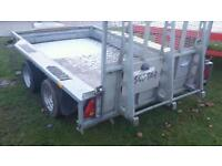 Ifor Williams plant trailer 10x6