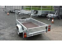 VERY STRONG BUILDED STANDARD CAR TRAILERS WITH FRONT LADDER RACK SPARE WHEEL LED LIGHTS