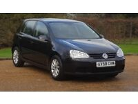 VW GOLF 1.9 MATCH TDI 58PLATE 2008 1P/OWNER 106000 MILES FULL SERVICE HISTORY AIRCON ALLOYS BLACK