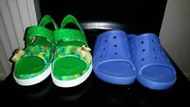 2 x Pairs size 12-13 Brand New Child's Crocs