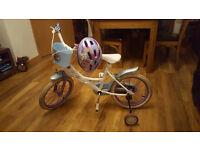 "Frozen Bike + helemt. Wheel size 16""."