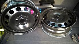 "Two Steel Wheels 6Jx16"" 5x112 New!"