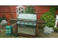 Large 4 burner outback barbeque and gas bottle