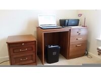 """3 DRAWER DESK """"AS NEW"""" NO SCRATCHES"""