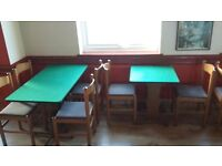 Restaurant Tables and Chairs in very good condition