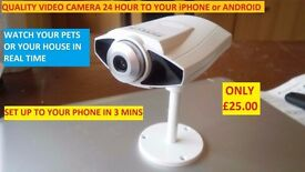 BABY CAMERA SECURITY CAMERA 2 WAY VIDEO SET UP 3 MINS VIEW ON YOUR MOBILE DEVICE WORLDWIDE