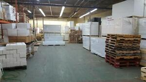 Pallet Storage with full warehouse services starts at $7.00 / skid /month. Free use of shared office.