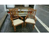 Very nice solid pine occasional chairs £15 each