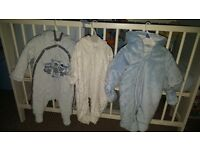 Sleep bags and pram suits never used.