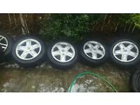 Renault 15 inch 4 stud alloys and tyres